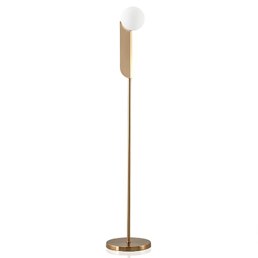 QPSGB フロアランプ - オフィス用のモダンなLEDランプ高さ調節可能ポール、読書用スタンドライト、アンティーク真鍮/ゴールド -4862 フロアランプ B07R4GY3SJ