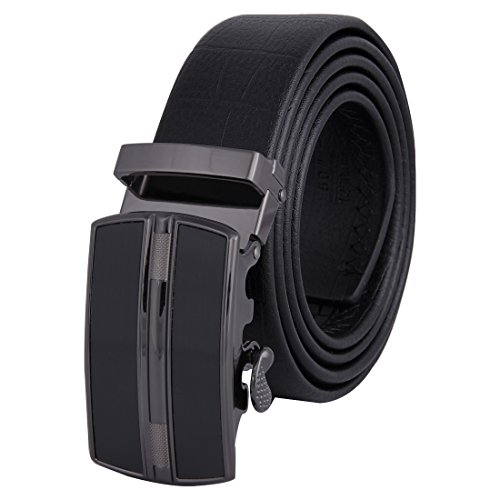 Belt Automatic Buckle 35mm Ratchet Dress Black Belts Boxed FG6 One Size (Belted Cowhide Belt)