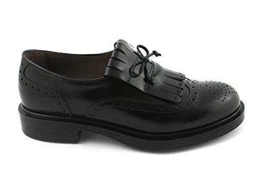 19370 Peindre À Black Nero Giardini Anglais Chaussures Noires Enfiler Brogues Frange Femmes Jardins ttPFw0q