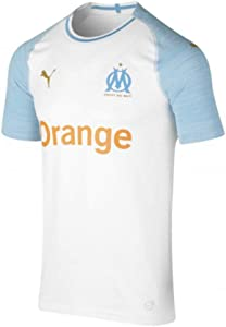 PUMA 2018-2019 Olympique Marseille Home Authentic Evoknit Football Soccer T-Shirt Jersey