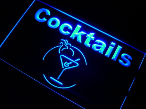 Cartel Luminoso ADV PRO j991-b Cocktails Bar Beer Wine Neon ...