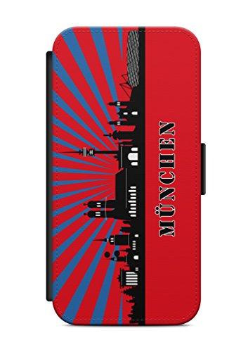 iPhone 6 6s München Skyline Flip Tasche Hülle Case Cover Schutz Handy