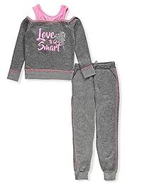 Limited Too Girls Pearl Trim Cozy 2fer Fleece Jog Set