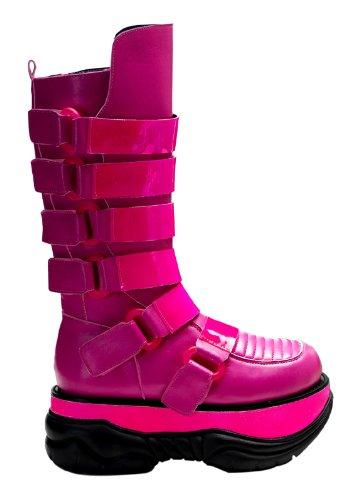 Pleaser Men's Neptune-310UV-HP Boot,Pink Polyurethane,6 M US