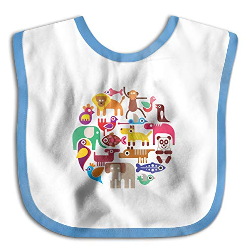 Animals Funny Baby Bibs Burp Infant Cloths Drool Toddler Teething Soft Absorbent -