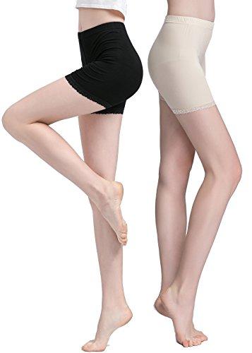 Trimmed Crop (Vinconie Safety Leggings Women Yoga Bike Shorts Cropped Leggings Lace)