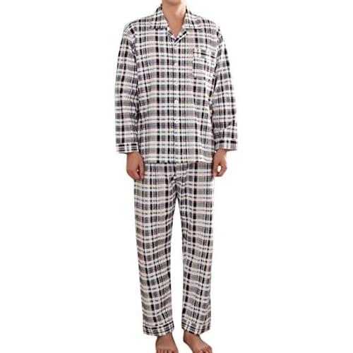 19ca0ad2c6 Fulok Mens Warm Plaid Loose Fit Soft Homewear Sleepwear Pajama Sets outlet