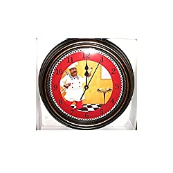 12 INch Fat Chef Bistro Wall Battery Operated Clock