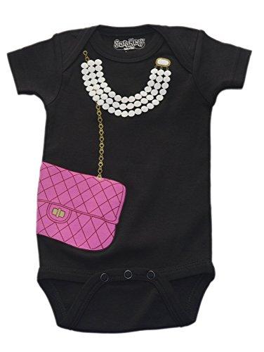 UPC 812498014571, Sara Kety Baby-Girls Newborn Bag with Pearl One, Black, 6-12 Months