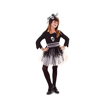 Fyasa 706525-t02 niña disfraz de calavera, tamaño mediano: Amazon ...
