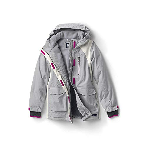 (Lands' End Little Girls Squall Waterproof Winter Parka, S, Silver)