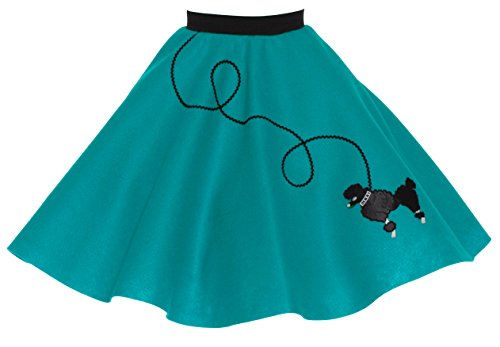 Poodle Skirt for Girls Size Large 10/11/12 Teal ()