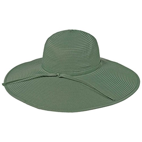 (Ribbon Crusher Travel Hat - 5 inch Brim - HS359 (Sage))