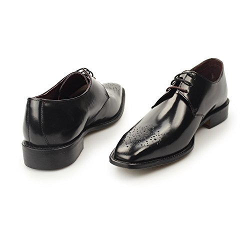 London Brogue Earl Derby Uomo Mocassino Blk