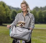 Image of PetSafe Happy Ride Bicycle Basket for Dogs and Cats - Sport Style Light Nylon Material - Detachable Carrier with Shoulder Strap - Removable Sun Shield - Multiple Storage Pockets - Best for Small Pets
