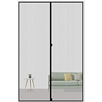MAGZO Magnetic Screen Door 36 x 96, Reinforced Fiberglass Mesh Curtain Entry Door Mesh with Full Frame Hook&Loop Fits Door Size up to 36