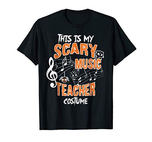 Mens Music Teacher Halloween Costume Tshirt! XL Black ()