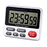 Digital Kitchen Countdown Timer - AIMILAR Count Up Down Cooking Timer Clock with Alarm Magnetic White
