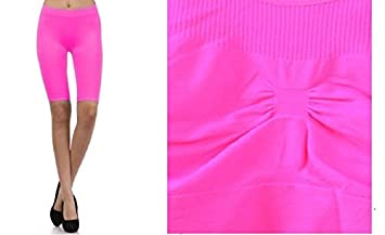 3101e33ac85 Image Unavailable. Image not available for. Colour: NEON FUCHSIA Seamless  Sports Bra Yoga Top Non-Padded ...