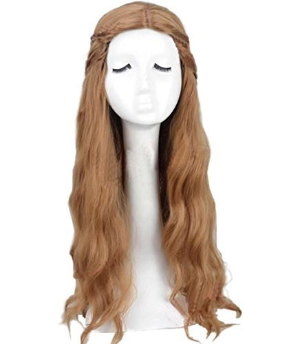 xcoser Cersei Lannister Wig Long Wave Fluffy Wig Hair Cosplay Costume ()