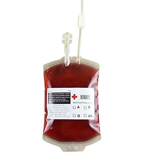5PCS Reusable Blood Energy Drink Bag Halloween Pouch Props Vampire (Energy Halloween)