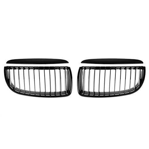 Astra Depot Glossy Black Euro Front Hood Kidney Grille For BMW E90 323i 325xi 330i 328i 328xi 335i 335xi Pre-Facelift (Pair)