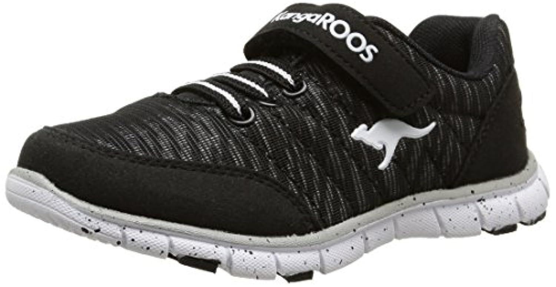 KangaROOS Unisex Kids' Nuri-Zebra Low-Top Sneakers Yellow Size: 1 UK (33 EU)