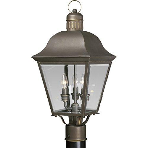 Antique Bronze Outdoor Post Light - Progress Lighting P5487-20 3-Light Andover Post Lantern, Antique Bronze