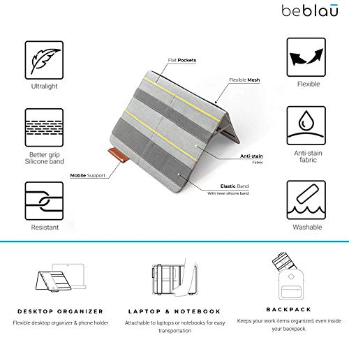 BEBLAU FOLD Organizer for Office & Home, Working from Home Accessory Solution, Custom Sleeve, Multi-Functional Executive…