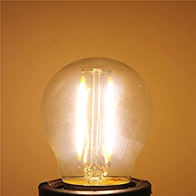 Lights & Lighting - G45 E27 2w White/Warm White Non-Dimmable Cob Led Filament Retro Edison Bulbs 220v - Edison Bulb Medium Base Volt Bulbs Light Battery Volts - 12 - 1PCs