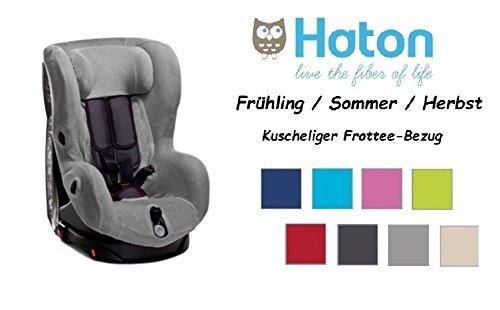 HATON -- FROTTEE Ersatzbezug für Maxi Cosi AXISS / Pearl / Tobi sowie Römer King Plus -- Frühling / Sommer / Herbst -- GRAU --