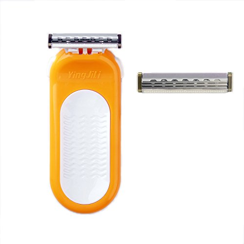 Price comparison product image QSHAVE Athena Women's Manual Shaving Razor with Triple Stainless Steel Blades (Compatible with Sensor Excel) (1 Razor + 2 Cartridges)