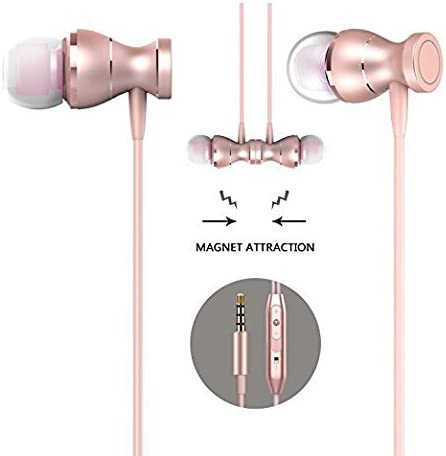ZHIKE Wired Earbuds Microphone Mic in Ear Magnetic Headphones Earphones Volume Control Corded Headsets Corded Noise Cancelling Sweatproof Remote for School Boys Girls iPhone Android Samsung iOS