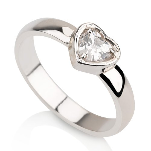 Heart Ring Promise Ring in Sterling Silver Couple's Ring Available sizes 5,5.5,6,6.5,7,7.5,8,8.5,9