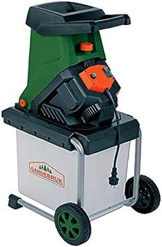 Gardebruk Trituradora eléctrica con cuchillas reversibles para árboles arbustos ramas colector de 50L 2500 W jardinería