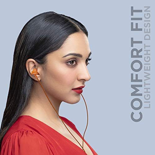 boAt Bassheads 100: Made in India in Ear Wired Earphones with Mic (Courageous Orange)