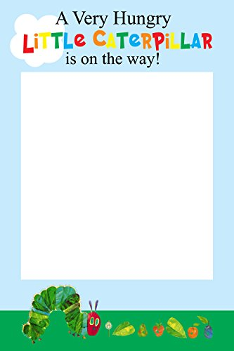 Hungry Caterpillar Baby Shower Selfie Frame Social Media Photo Prop Poster ()