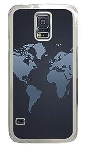 Samsung Galaxy S5 Patterns Map Grid PC Custom Samsung Galaxy S5 Case Cover Transparent