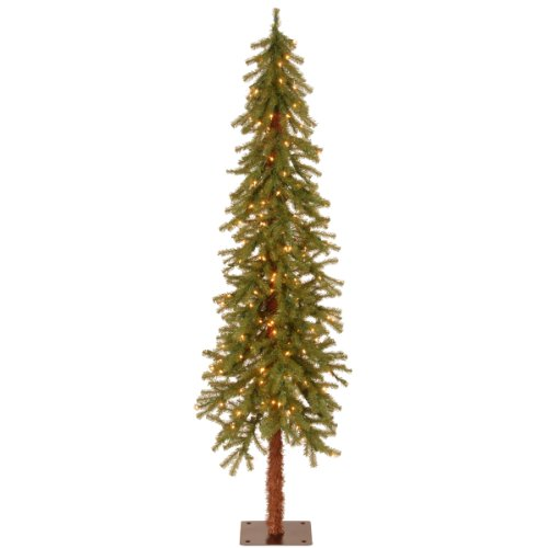 National Tree 6 Foot Hickory Cedar Tree with 150 Clear Li...