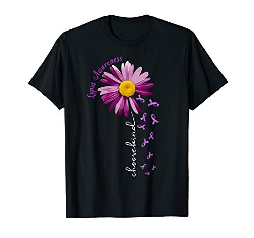 Choose Kind Lupus Awareness T-shirt Gift Purple Ribbon