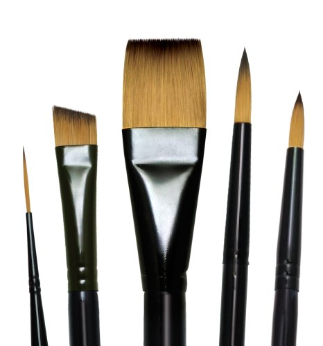 Majestic Royal and Langnickel Short Handle Paint Brush Set Deluxe Watercolor 5Piece