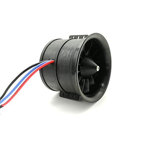 (Powerfun EDF 90mm 12 Blades Ducted Fan with RC Brushless Motor 1100KV Balance Tested for EDF 8S RC Jet Airplane)