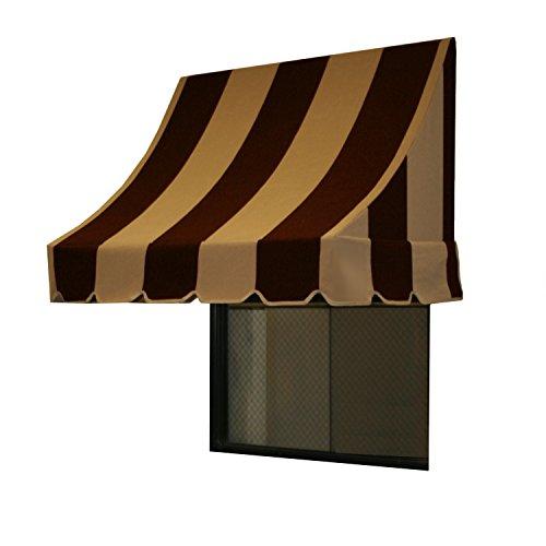 Awntech 10-Feet Nantucket Window/Entry Awning, 44-Inch Height by 36-Inch Diameter, Brown/Tan (Awning Screen Door)