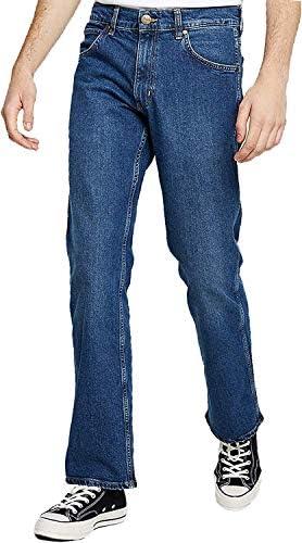 Blue Denim Mens Wrangler Jacksville Bootcut Fashion Jean Zip Fly 34H