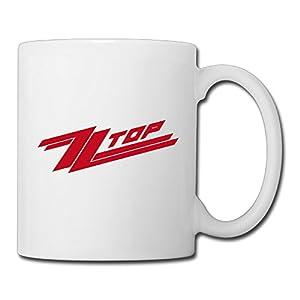 Christina ZZ Top Logo Ceramic Coffee Mug Tea Cup White