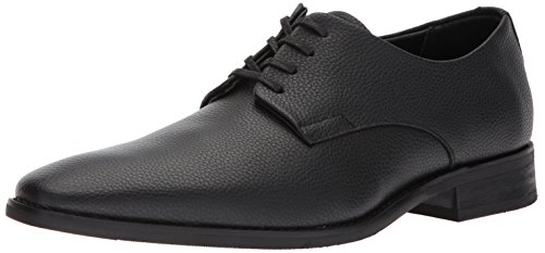 Calvin Klein Men's Ramses Tumbled Leather Oxford, Black, 8.5 Medium US by Calvin Klein