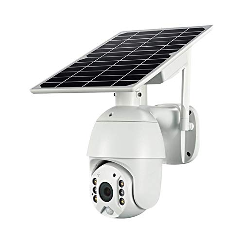 whdz 4G Solar Camera WiFi Networking Smart Dual Pan/tilt Motion Detection Two Storage Options (Size : 4G+Battery+64G Card)