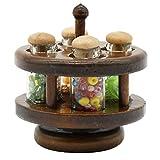 Brosco 1:12 Miniature Seasoning Rack Pot with Spice Dollhouse Kitchen Accessories K7O B