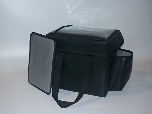 TCB Insulated Bags FC-3-Black Insulated Food Service Bag, Holds 5 Meals, 12'' x 14.5'' x 16.5'', Large, Black by TCB Insulated Bags