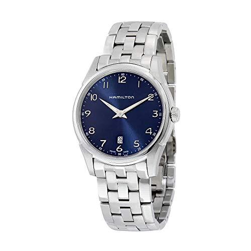 Hamilton Men's H38511143 Jazzmaster Thinline Analog Swiss Quartz Silver Stainless Steel Watch